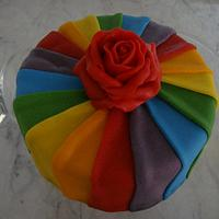 Rain bow cake by Zohreh