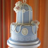 Birdcage Wedding Cake by Carol