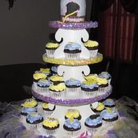 Tangled Rapunzel Cupcake Tower