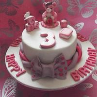 3rd Birthday cake for a little princess