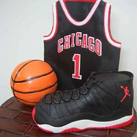 basket ball, air jordan cake