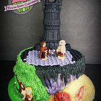 LOTR LEGO cake