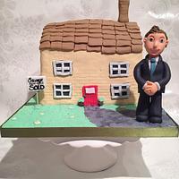 Estate agent house cake