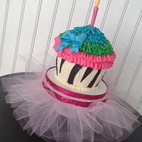 First Birthday Smash Cake with Tutu Cake Stand
