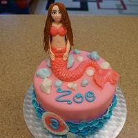 Pink Mermaid Cake