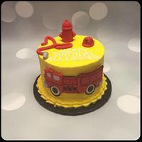 Firetruck Smash Cake