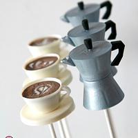 Moka™ pot cake-pops with cappuccino cake-pops