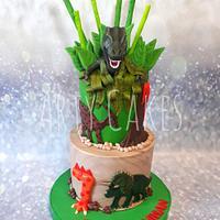 Dinosaur cake by Arty cakes