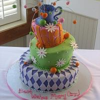 Mad Hatter Bridal Shower Cake