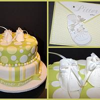 """Pitter Patter"" Baby Shower Cake"