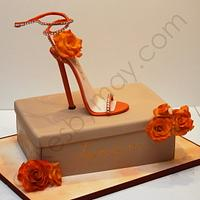Stiletto Shoe and Box Birthday Cake