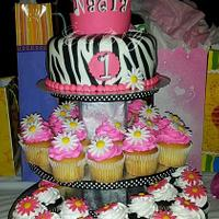 "Princess ""Zebra""  Cake"