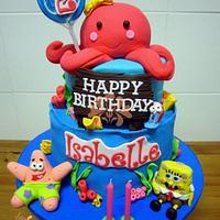 Octopus & Spongebob Cake
