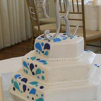 Splash wedding cake