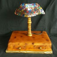 Tiffany lamp - ligntning and eddible
