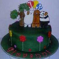 We Bear Bears Cake