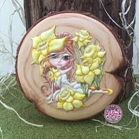 Daffodil Fairy Cookie