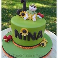 Sunflower Fairy Birthday Cake