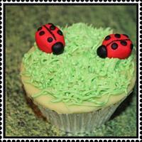 Lady bird cupcakes