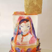 Indian Bride - Watercolours I