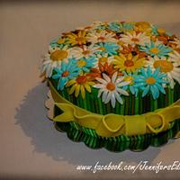 Flower Bouquet Birthday Cake by Jennifer's Edible Creations