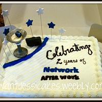 Martini glass anniversary cake