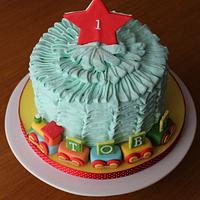 Ruffles 1st birthday Cake for Toby