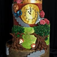 Labyrinth Mural Cake