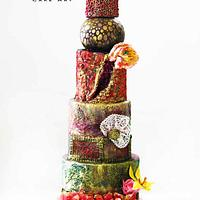 Wedding Cake Design By Purbaja B Chakraborty: Theme: Ultimate Texture