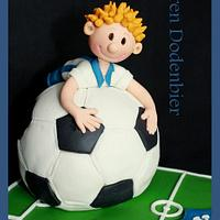 Soccer cake by Karen Dodenbier