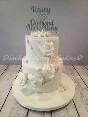 Diamond Wedding Cake - Cake by Dinkylicious Cakes