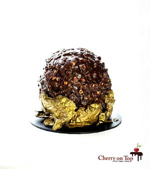 Giant Ferrero Rocher 🤩 - Cake by Cherry on Top Cakes