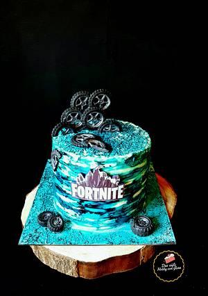 Fortnite Cake - Cake by Gena