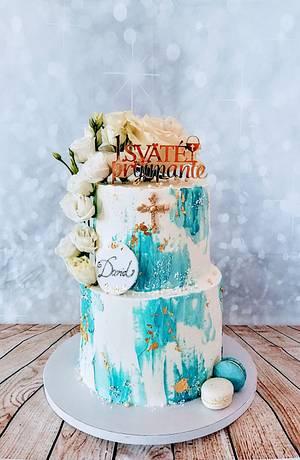 Church blue cake - Cake by alenascakes