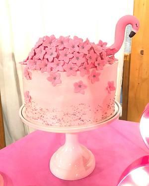 Flamingo cake  - Cake by Tania Chiaramonte