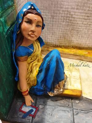 india lady - Cake by michal katz