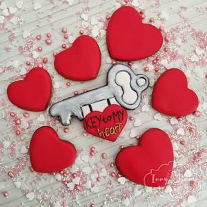 Key to my Heart - Cake by Inny Tinny