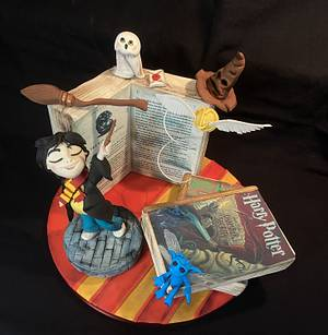 Harry Potter-Magical Cake Collaboration - Cake by Cristina Arévalo- The Art Cake Experience