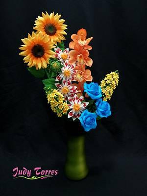 TROPICAL FLOWERS - Cake by JUDY ESPERANZA TORRES BERNAL