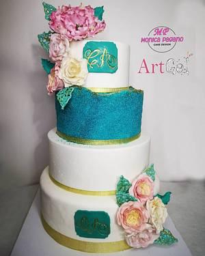 Wedding cake  - Cake by CakeMonica