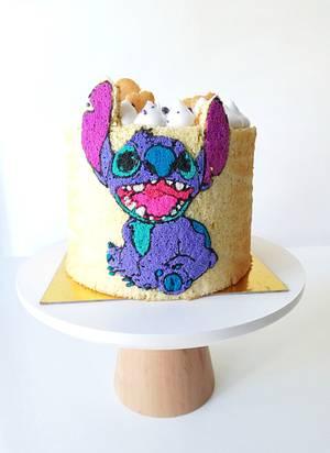 Stitch - Cake by Gimena