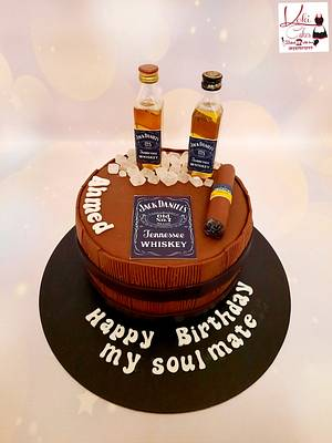 """JACK DANIEL'S cake"" - Cake by Noha Sami"