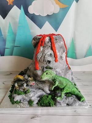 Dino world - Cake by Sweet cakes by Masha