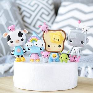 Cute Cake Toppers - Cake by Crumb Avenue