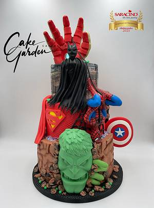 Superhero cake  - Cake by Cake Garden