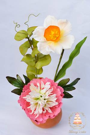 Spring flowers arrangement - Cake by Benny's cakes