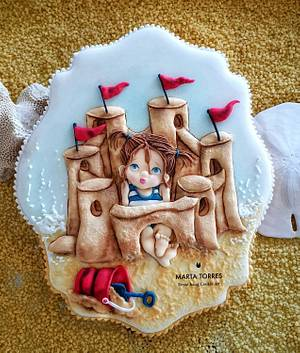 Maria's Sand Castle ..... - Cake by The Cookie Lab  by Marta Torres