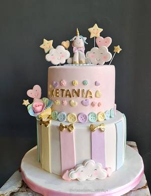 Pastel Unicorn cake - Cake by FayePramraj