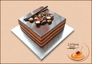 chocolate cake with pralines - Cake by LiViera