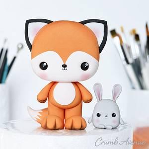 Fox & Bunny - Cake by Crumb Avenue